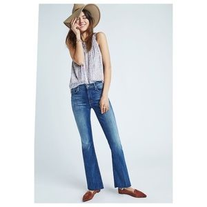 MOTHER The Weekender Fray Flare Jeans